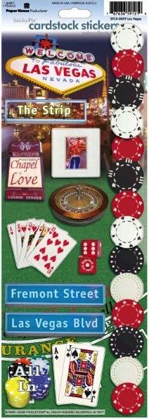 Las Vegas Cardstock Scrapbooking Stickers