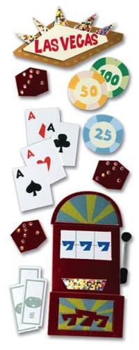 Las Vegas Jolees 3D Scrapbooking Stickers
