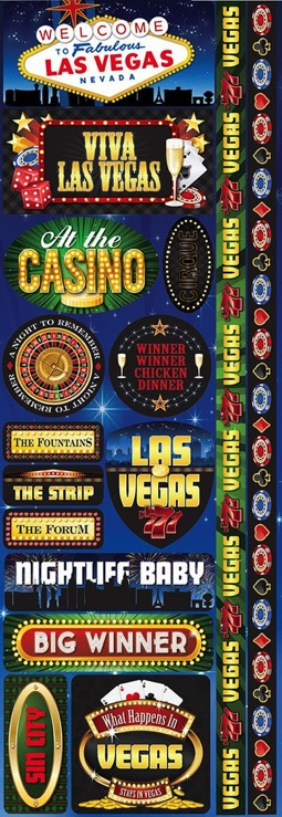 Las Vegas Cardstock Scrapbooking Stickers and Borders