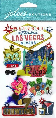 Las Vegas Jolees Large Scrapbooking Stickers