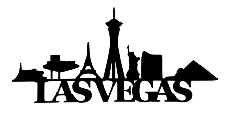 Las Vegas Scrapbooking Laser Cut Title with Buildings