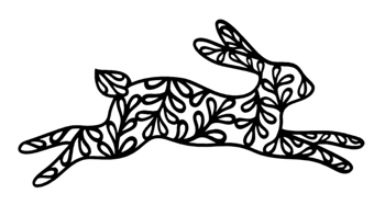 Leaping Bunny Intricate Scrapbooking Laser Cut