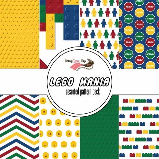 Lego Mania 12x12 Scrapbooking Paper Pack