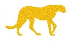 Leopard Glitter Die Cut Scrapbooking Sticker