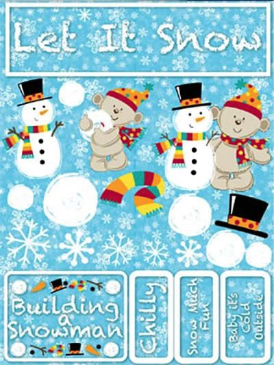 Let it Snow 3D Scrapbooking Stickers