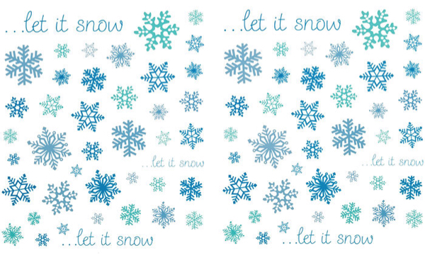 Let it Snow Scrapbooking Stickers