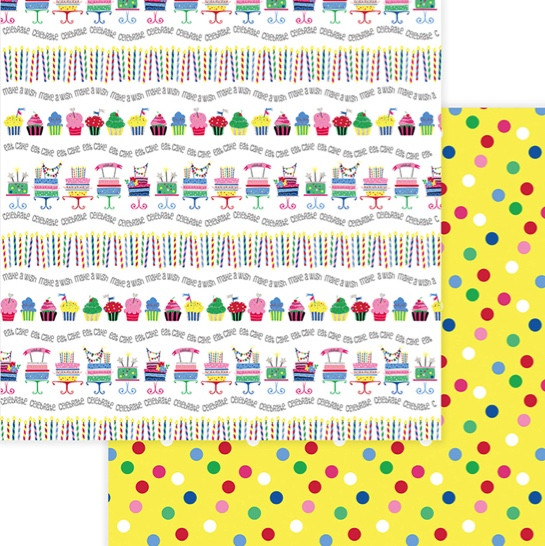 Let's Party Double Sided 12x12 Scrapbooking Paper