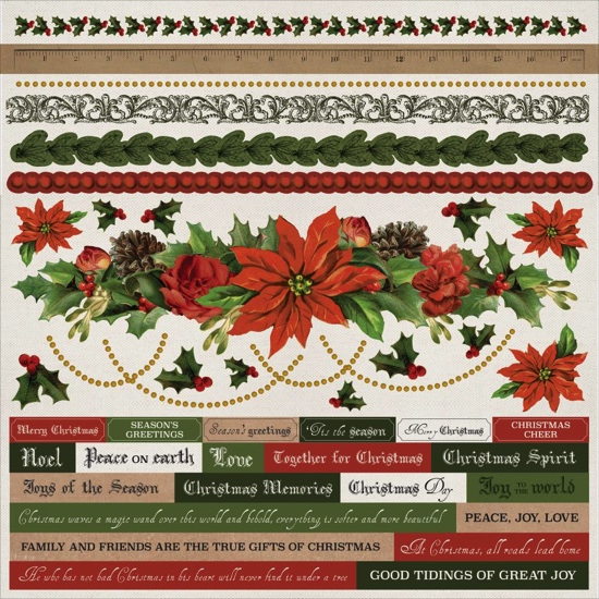 Letters to Santa 12x12 Cardstock Scrapbooking Stickers