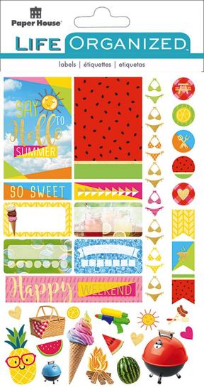 Summer Fun Scrapbooking Sticker Multi Pack - 4 Sheets
