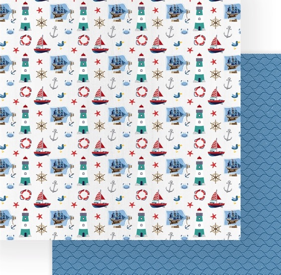 Lighthouse Double Sided 12x12 Scrapbooking Paper