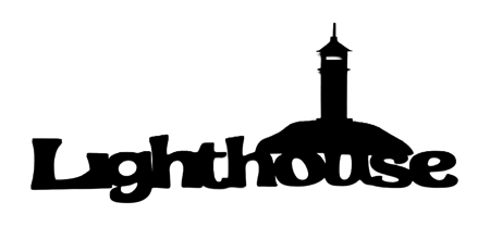 Lighthouse Scrapbooking Laser Cut Title with Lighthouse