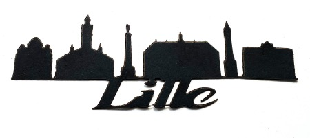 Lille Scrapbooking Laser Cut Title with skyline