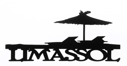 Limassol Scrapbooking Laser Cut Title with Sun Loungers