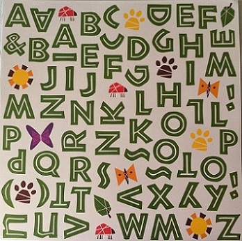 Lion King Alphabet 12x12 Scrapbooking Paper