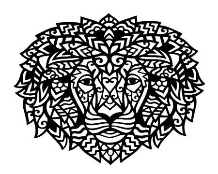 Lion Head Intricate Scrapbooking Laser Cut