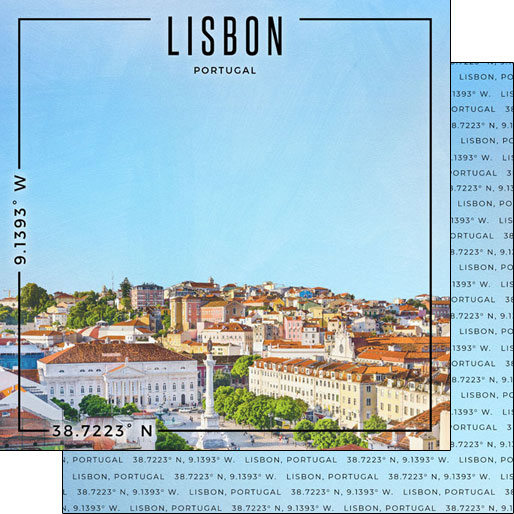 Lisbon 12x12 Double Sided Scrapbooking Paper