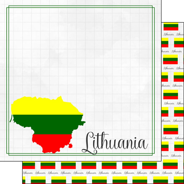 Lithuania12x12 Double Sided Scrapbooking Paper