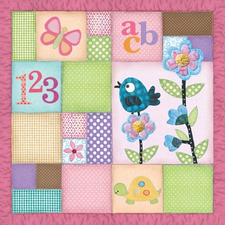 Little Girl Quilt 12x12 Scrapbooking Paper