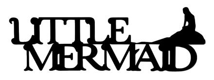 Little Mermaid Scrapbooking Laser Cut Title with Mermaid