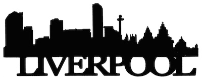 Liverpool Scrapbooking Laser Cut Title with Skyline