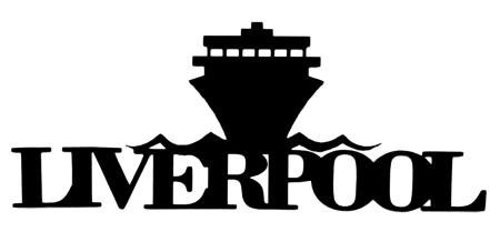 Liverpool Scrapbooking Laser Cut Title with Ship