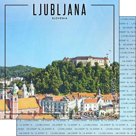 Ljubljana 12x12 Double Sided Scrapbooking Paper