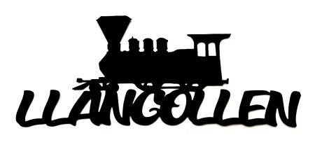 Llangollen Scrapbooking Laser Cut Title with Train