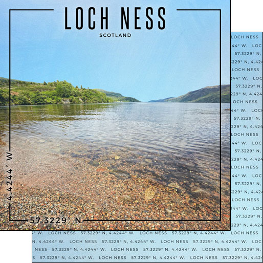 Loch Ness 12x12 Double Sided Scrapbooking Paper