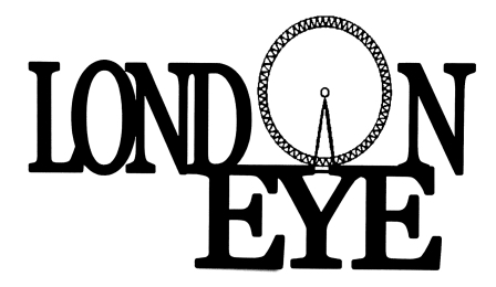 London Eye Scrapbooking Laser Cut Title with Eye