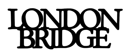 London Bridge Scrapbooking Laser Cut Title
