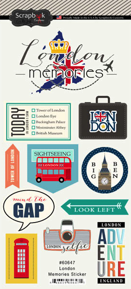 London Memories Scrapbooking Stickers
