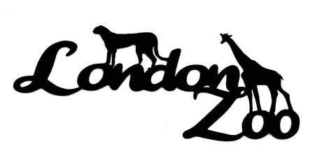 London Zoo Scrapbooking Laser Cut Title with Animals