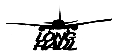 Long Haul Scrapbooking Laser Cut Title with plane