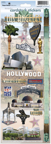 Los Angeles Cardstock Scrapbooking Stickers