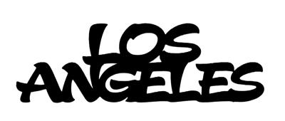 Los Angeles Scrapbooking Laser Cut Title