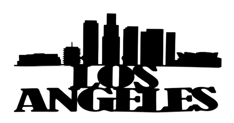 Los Angeles Scrapbooking Laser Cut Title with Skyline