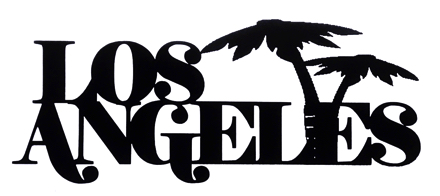 Los Angeles Scrapbooking Laser Cut Title with Palm Trees