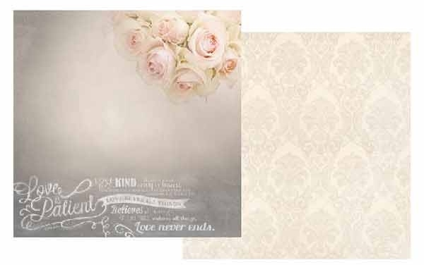 Love Is Patient 12x12 Double Sided Scrapbooking Paper