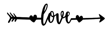Love Arrow Scrapbooking Laser Cut Title
