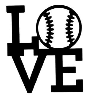 Love Baseball Scrapbooking Laser Cut Title