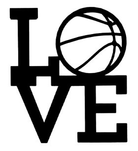 Love Basketball Scrapbooking Laser Cut Title