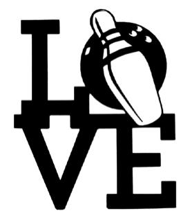 Love Bowling Scrapbooking Laser Cut Title