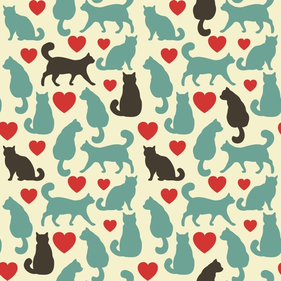 Love Cats 12x12 Scrapbooking Paper