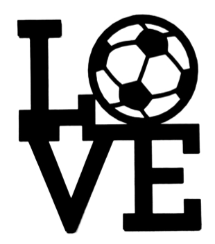 Love Football Scrapbooking Laser Cut Title with Ball