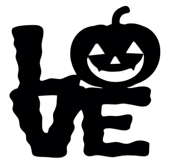 Love Scrapbooking Laser Cut Title with Pumpkin