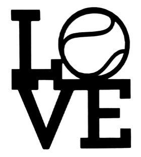 Love Tennis Scrapbooking Laser Cut Title