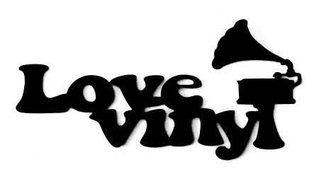 Love Vinyl Scrapbooking Laser Cut Title with Record player