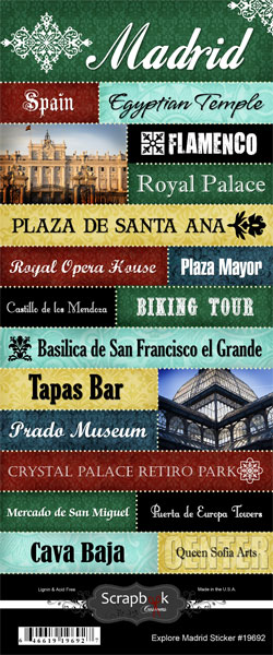 Explore Madrid Large Scrapbooking Stickers