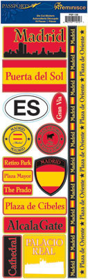 Madrid Cardstock Scrapbooking Stickers and Borders