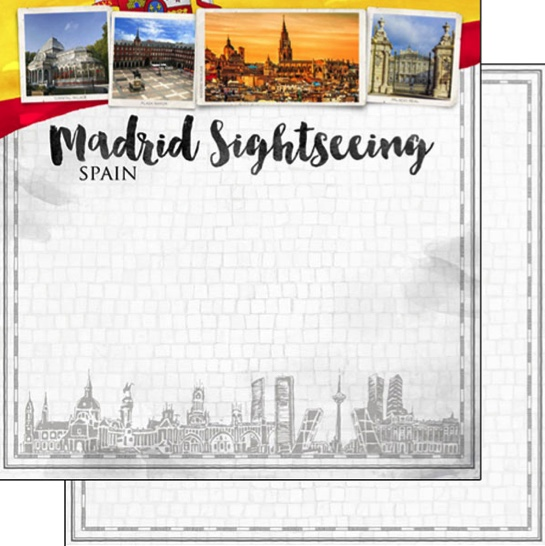 Madrid Sightseeing 12x12 Double Sided Scrapbooking Paper